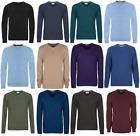 M&S Marks and Spencer V Neck Men's Jumper Cotton Knitwear Regular Fit New Sale