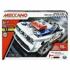 Meccano Wheels and Moving Parts Construction Set - Race Car For Kids Xmas Gift