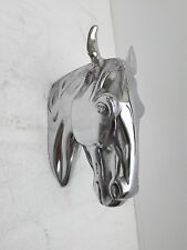 Aluminium Wall Mount Horse Head 10 inches Animal Sculpture Bust Figurine