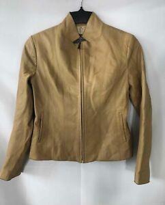 Cole Haan Tan Lambskin Jacket - Women's Size 6P