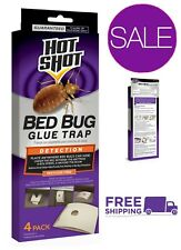 Hot Shot Bed Bug Glue Trap 4 Count Pesticide Free Pest Control Insect Killer