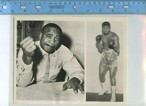 Sonny Liston wire photograph boxing vintage (Ali)