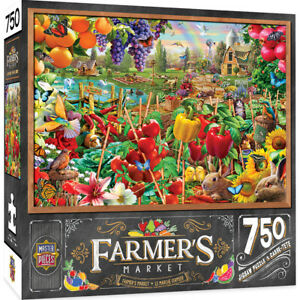 Masterpieces Farmer's Market A PLENTIFUL SEASON 750 piece jigsaw puzzle NEW