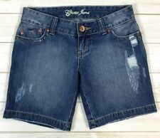 Guess Jean Shorts Women's Distressed Size 26 Medium Wash Short EUC A0317