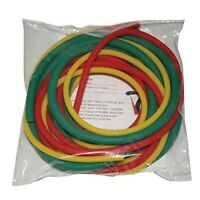 Easy with Yellow CanDo Low Powder Exercise Tubing Pep Pack and Green tub Red