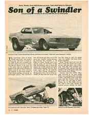 1970 MUSTANG FUNNY CAR - STONE * WOODS * COOK * KEATON ~   4-PAGE ARTICLE / AD