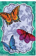 """""""Evergreen"""" Butterfly Tolle Silk Reflections Garden Mini Flag free shipping"""