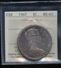 1967 Canada Silver Dollar ICCS Certified MS65 DCB117