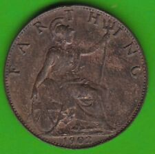 United Kingdom Farthing 1902 IN Xf-Bu Very Nice nswleipzig