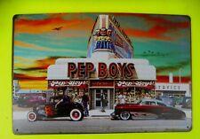 Nostalgie Blechschild Retro Hot Rod Pep Boys Service Boys Diner 20 x 30 cm