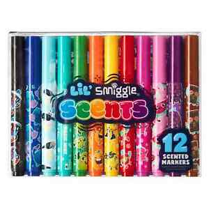 Smiggle 12 Scented Markers pack girl boy stationary set Lil' Scents fruits choc