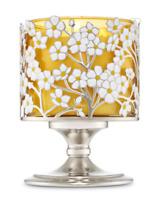 BATH & BODY WORKS SPRING FLOWER PEDESTAL LARGE 3-WICK CANDLE HOLDER SLEEVE 14.5