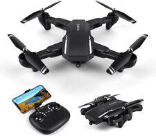 Drone: HD  w/120° Wide-Angle Camera Live Video,WiFi Foldable,1 Key Take off/Land