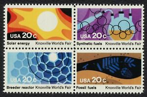 #2009a 20c Knoxville World's Fair, Se-Tenant Block, Mint **ANY 5=FREE SHIPPING**