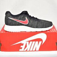 Nike Tanjun Premium Gray Red Mens 8.5 Athletic Shoes 876899-010 New In Box
