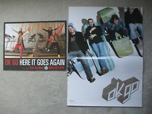 Ok Go  2 promo posters 2002 Get Over It and 2006 Here It Goes Again on Capitol