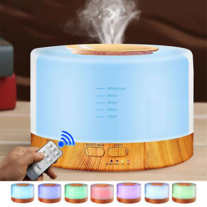 500ml 7 Color LED Ultrasonic Humidifier Essential Oil Diffuser for Home Office