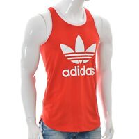 Adidas for Mens Athletic gym Tank Tops t-shirt Workout shirt UK-14 Red Authentic