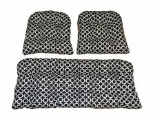 Black White Geometric Indoor Outdoor Cushions for Wicker 3 Pc Cushion Set