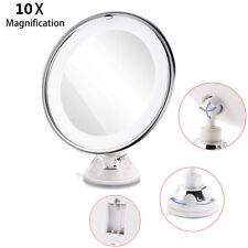 8 Inch Specchio LED Cosmetico ingranditore 10X Make UP Trucco Donna con Ventose