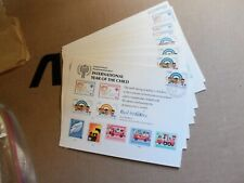 """United Nations (Sc 15) """" Int'l Year of the Child """" 1979 Souvenir Card 20 Copies"""