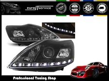 FARI ANTERIORI HEADLIGHTS LPFO38 FORD FOCUS II 2008 2009 2010 DAYLIGHT NERO