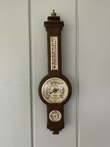 Vintage Springfield Banjo Weather Station- Barometer Thermometer Humidity