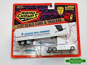 1997 Road Champs U.S. POSTAL SERVICE CAB & TRAILER 1:87 Mint on Card