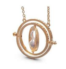 Time Turner Hermione Granger Rotating Spins Hourglass Necklace with Velvet Pouch
