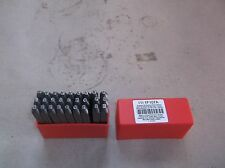 1F107 Letter Set, 3/32 In. H, Steel (F37T)