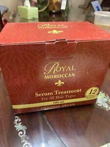 NEW 12x Royal Moroccan Argan Oil Serum Hair Treatment 100ml All Hair Types