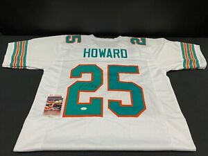 XAVIEN HOWARD MIAMI DOLPHINS SIGNED CUSTOM THROWBACK JERSEY JSA WITNESS COA