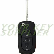 Brand New Remote Flip Key Fob Keyless Entry Remote Uncut for Audi