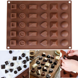 Silicone Cake Jelly Cookies Mold Chocolate Baking Mould Candy Tray Wax Ice Cube