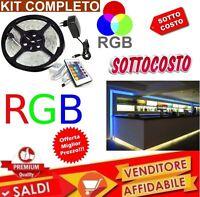 KIT STRISCIA A LED 300 LED IP65  5 METRI RGB BOBINA + ALIMENTATORE E TELECOMANDO