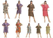 Ethnic Indian Cotton Caftan 5 PC Lot Short Maxi Sexy Gown Kaftan Night Wear Boho