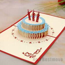 Happy Birthday Cake 3D Pop Up Greeting Card