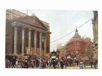 Antique colour printed postcard Mansion House Nestles Milk S Hildesheimer & Co