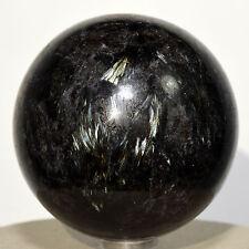 "2.3"" Natural Astrophyllite w/ Garnet Sphere Sparkling Crystal Mineral - Russia"