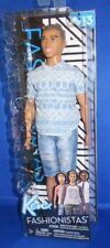 Barbie FNJ38 Ken Fashionistas Distressed Denim Toy Doll