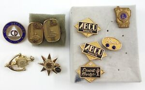 Vintage Employee Milestone Pins - Sears, ABCO Markets, LifeTouch