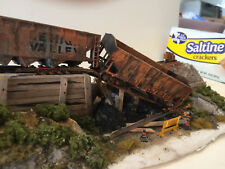 ABANDONED COAL YARD with Hoppers  DIORAMA (17X5)  Handmade by Seller