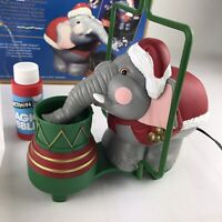 1995 Edgar the Bubble Elephant Christmas Ornament New Santa's Action World