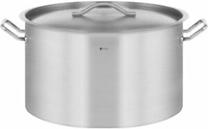Royal Catering Industrial Induction Pot Stockpot with Lid Stainless Steel 58 L