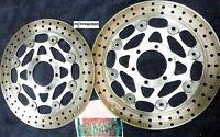 Yamaha 1988-1990 Yamaha FZR400 FZR 400 Front Brake Rotors Left & Right Discs #2