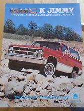 GMC K Jimmy brochure 1983