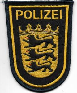 Polizei WSP  BADEN-WÜRTTEMBERG gestickt Abzeichen Patch 90er WASSERSCHUTZPOLIZEI