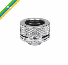 Thermaltake G1/4 PETG Tube 5/8in OD Compression Fitting,CL-W092-CA00SL-A,Chrome