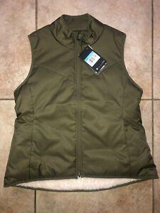 Womens Nike Reversible Shearling Sleeveless Golf Vest Green CK5866-222 NWT $100