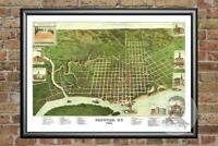 Old Map of Paducah, KY from 1889 - Vintage Kentucky Art, Historic Decor